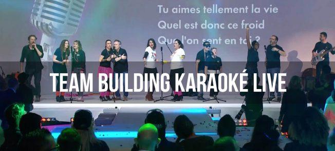 Team building karaoké live !